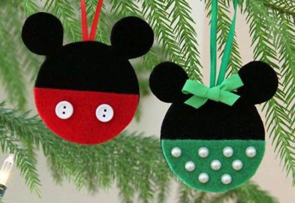 Addobbi Natalizi Disney.50 Idee Per Palline Di Natale In Feltro Fai Da Te Fieltro Natale