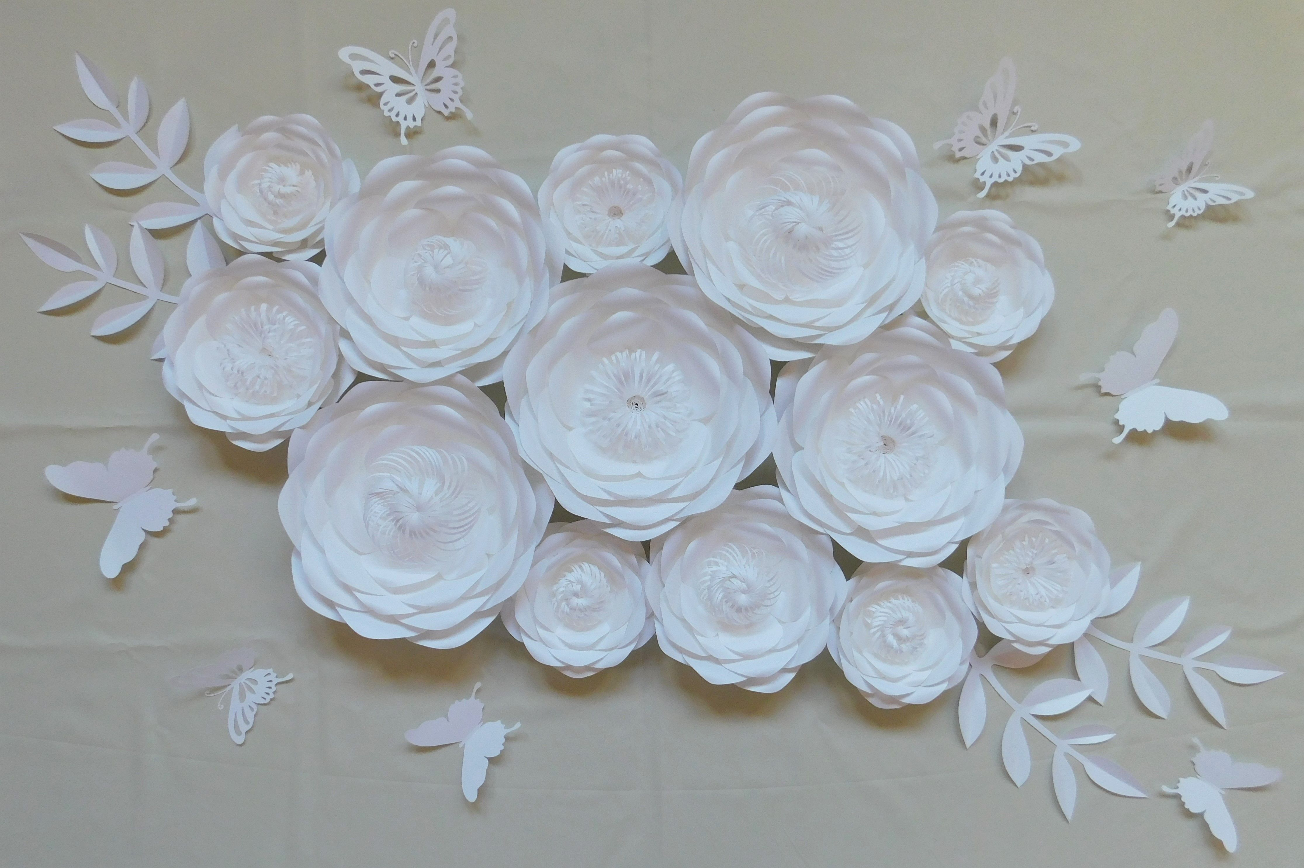 Paper Flowers Kwiaty Z Papieru Kwiaty Chanel Paper Flowers Wall Paper Flower Wall Paper Flowers Flower Backdrop