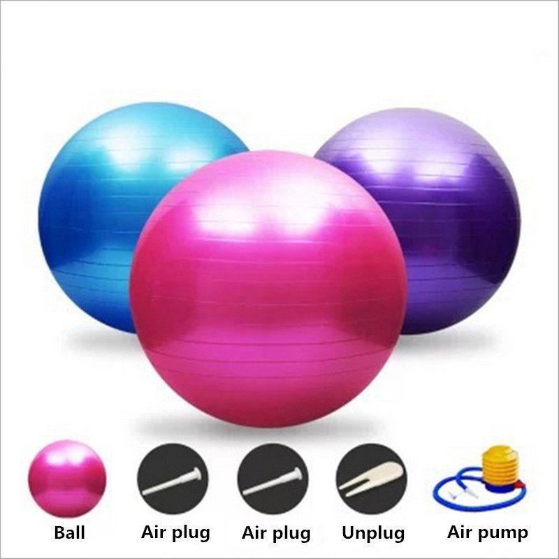 55 65 75 cm Utility Yoga Ballen Pilates Fitness Gym Balans Fitball Oefening Pilates  Workout Dikkere Explosie Yoga bal BB013 dad222cca043e