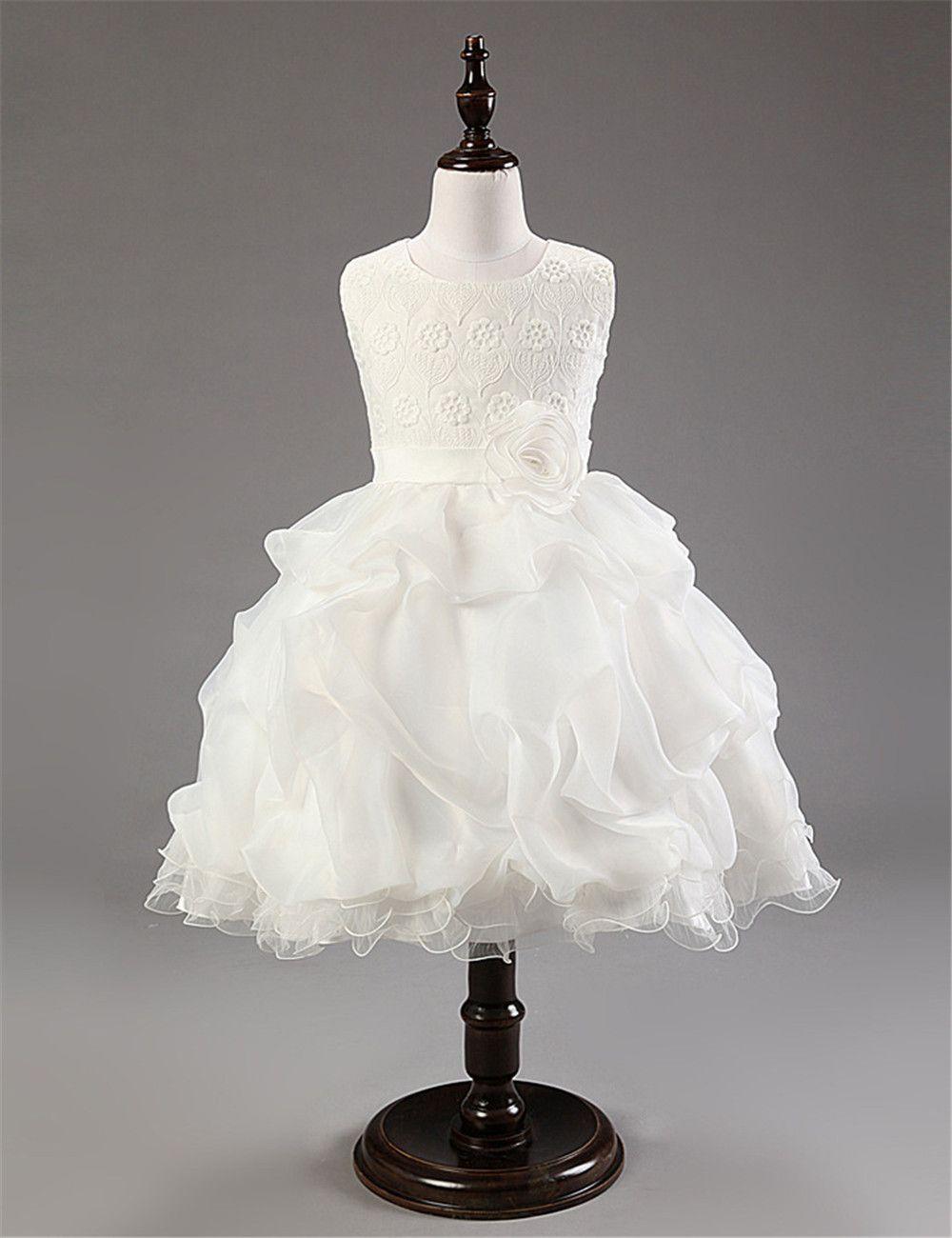 Click to Buy << New Arrival Sleeveless Fresh Girl Wedding Dresses ...
