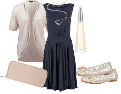 Dunkelblaues kleid kombi