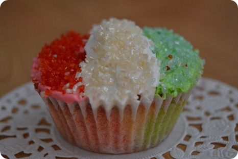 Cupcakes tricolore