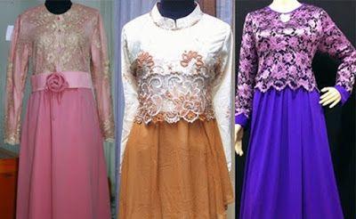 Model Baju Gamis Brokat Orang Gemuk Pesta Pinterest Model