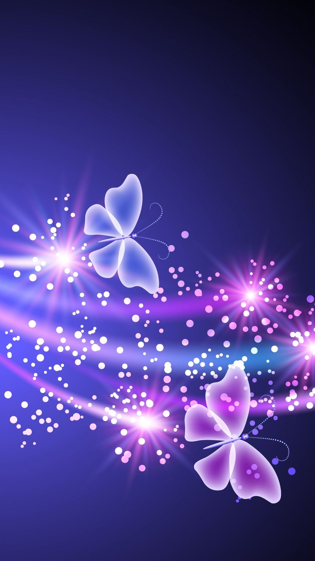 Neon Butterfly Light Abstract Shine #iPhone #6 #plus #wallpaper   Fond d'écran papillon