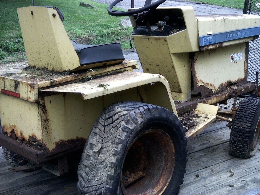 Elec-Trak E-15 by General Electric garden tractor