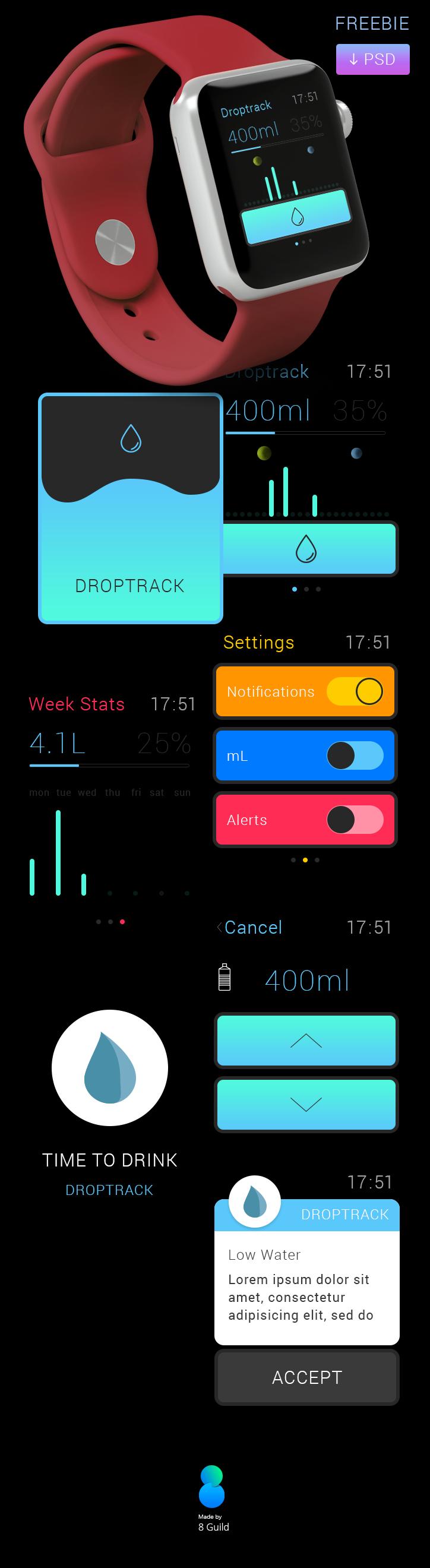 Apple Watch App Freebie on Behance