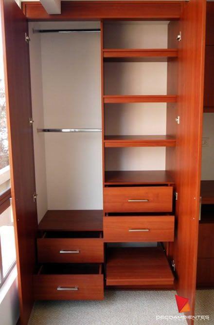 Decoambientes closets en madera decoraci n pinterest for Decoracion closet en madera