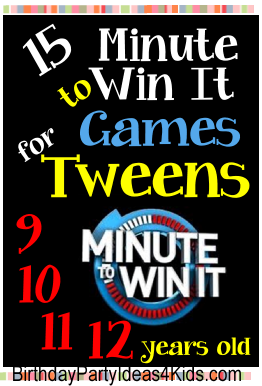 tween minute to win it games fun easy and cheap games for a tween