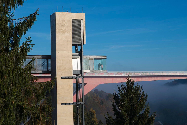 Architekt Luxemburg schwindelfrei in luxemburg aufzug steinmetzdemeyer architektur