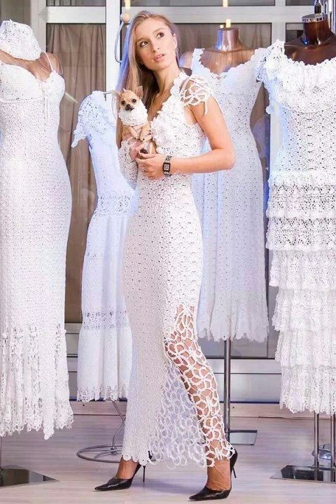 vestidos de novia tejidos a crochet. … | crochet | croch…