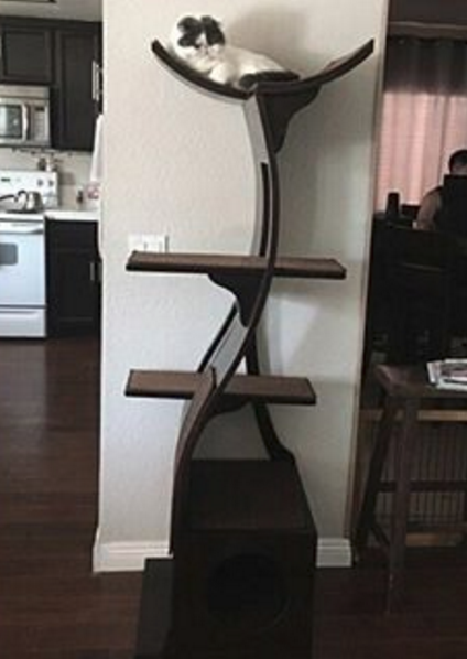 Lotus Cat Tower A Modern Cat Tower The Refined Feline Modern Cat Tower Cat Furniture Modern Cat