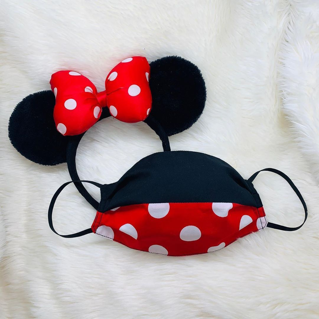 Mouse Hair Bow And Mask