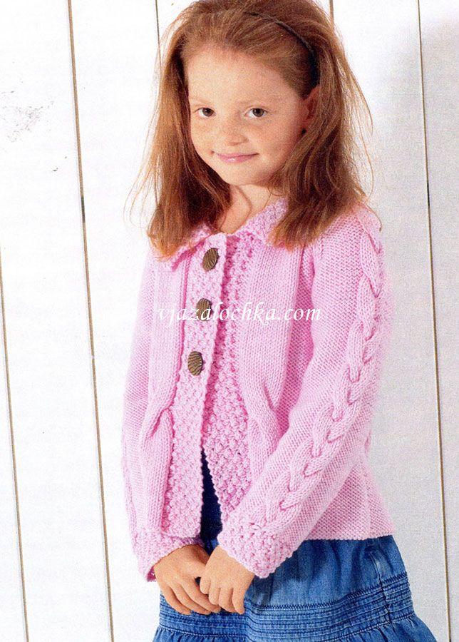 схемы вязания для девочек спицами