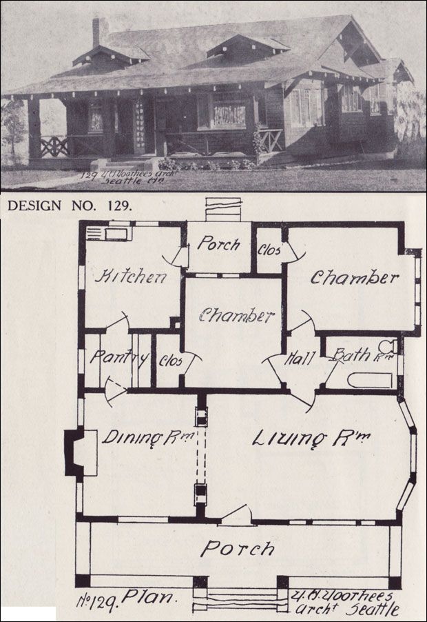 Bungalow House Plan   California Style Bungalow Architecture   1908 Western Home  Builder   Design No