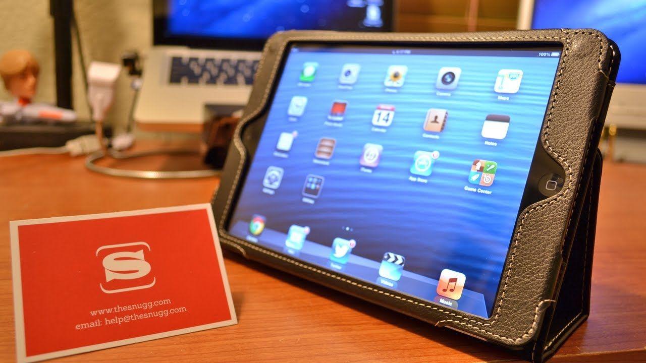 Snugg iPad Mini PU Leather Case with Flip Stand
