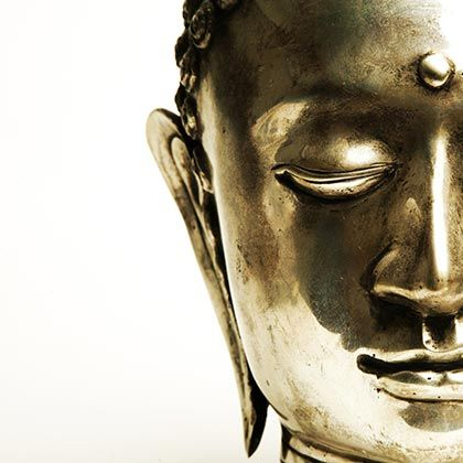 Metal Buddha Face