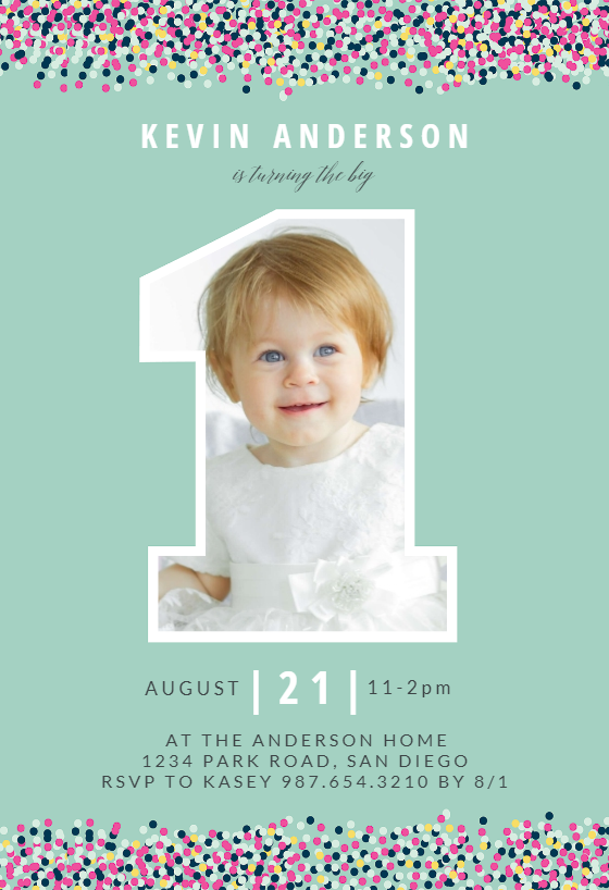 Big One Photo Birthday Invitation Template Free Greetings Island Photo Birthday Invitations Birthday Invitation Card Template 1st Birthday Invitations Boy