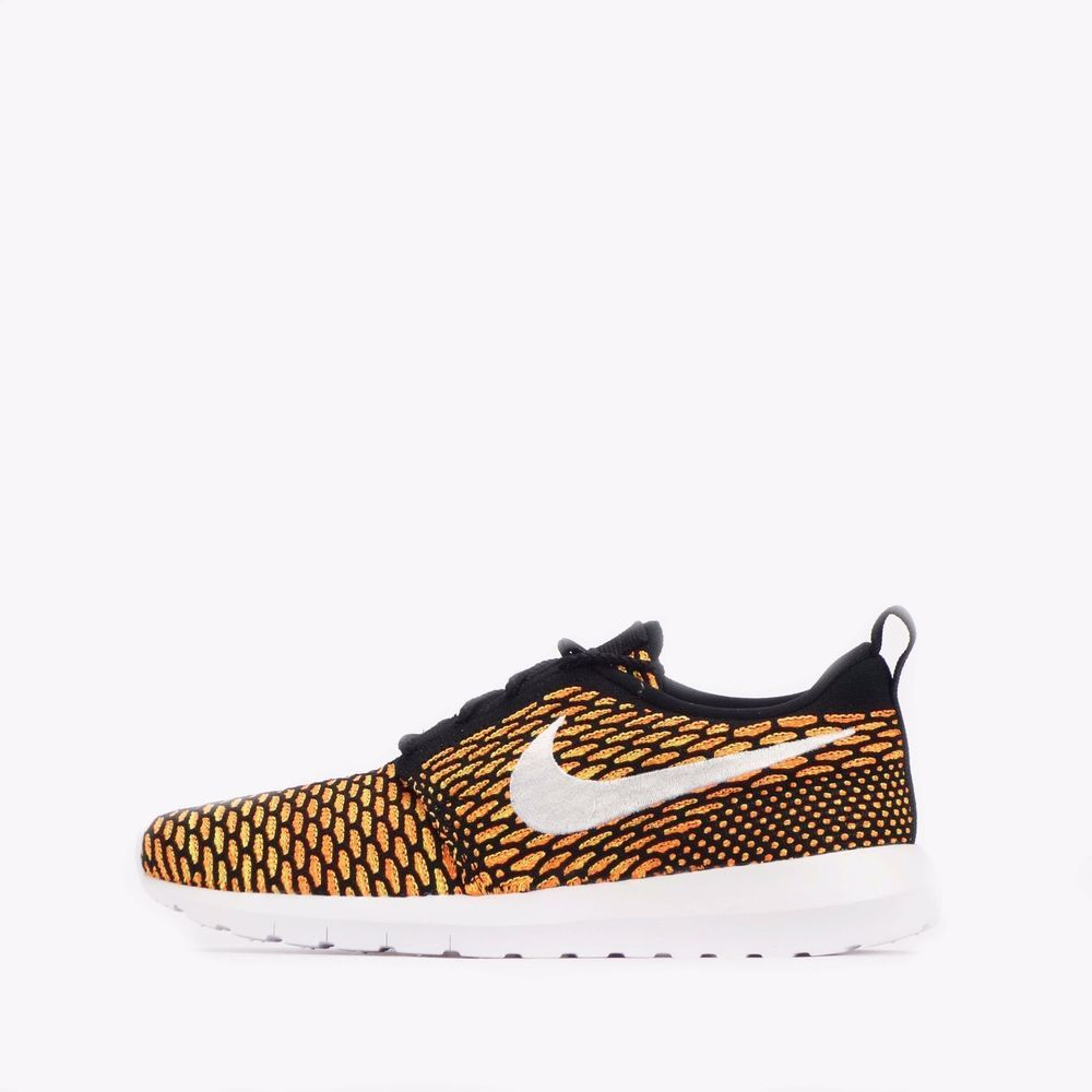 9ca210cb4a434 Nike Roshe One Flyknit NM Natural Motion Mens Trainers Shoes in Black Orange   Nike  Trainers