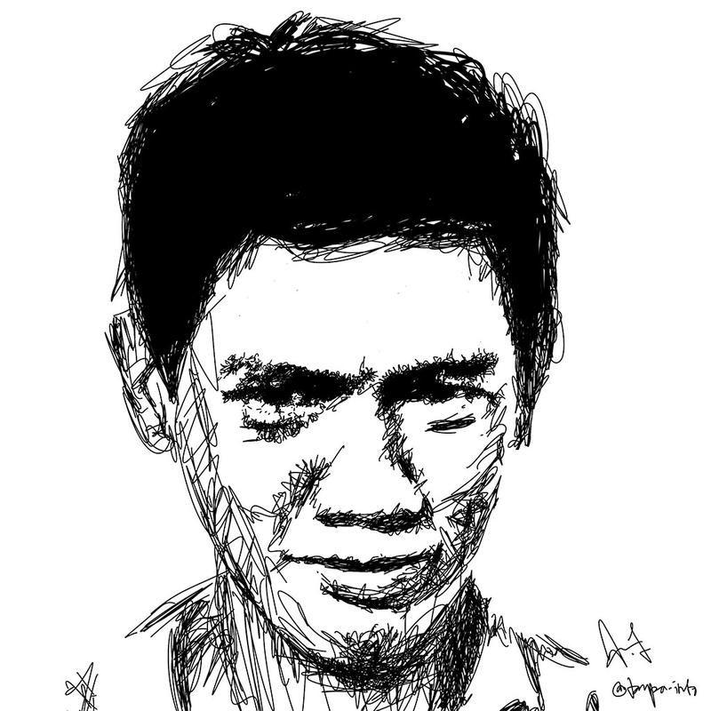 Soe Hok Gie Hatching By Ariecool Tanpa Info Portrait Drawing Hatch Art Art