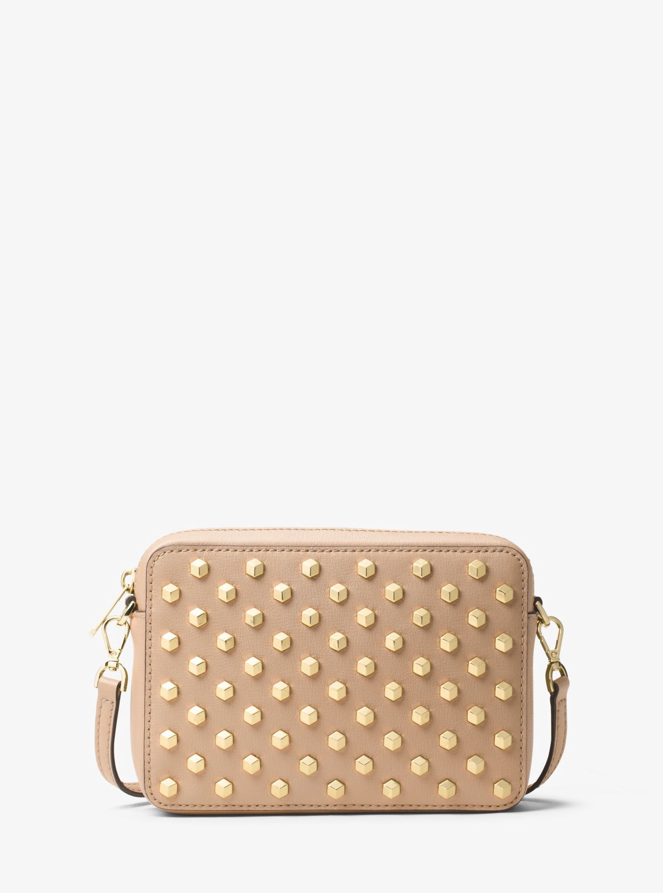 767089abaee0 MICHAEL KORS Scout Studded Leather Crossbody.  michaelkors  bags  shoulder  bags  leather  polyester  crossbody  lining