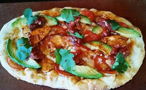 It's a pizza...not a burrito! Spicy grilled chicken ...