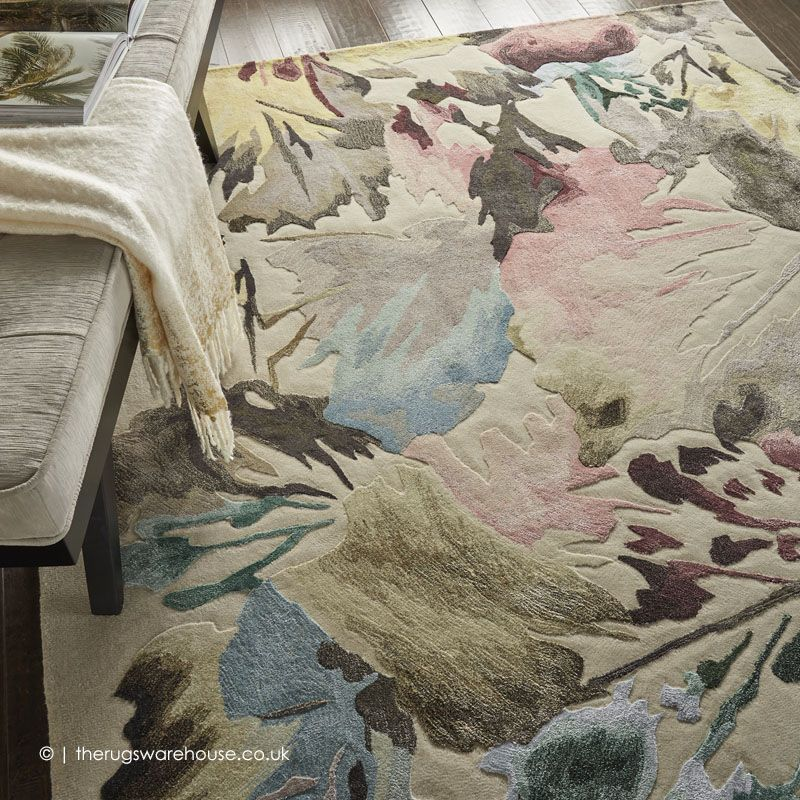 Prismatic Abstract Floral Rug in 2019 Floral rug, Hand
