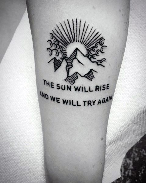 Photo of 42 Best Tattoo Quotes To Inspire You Everyday tattoo quotes, strength tattoos, m…