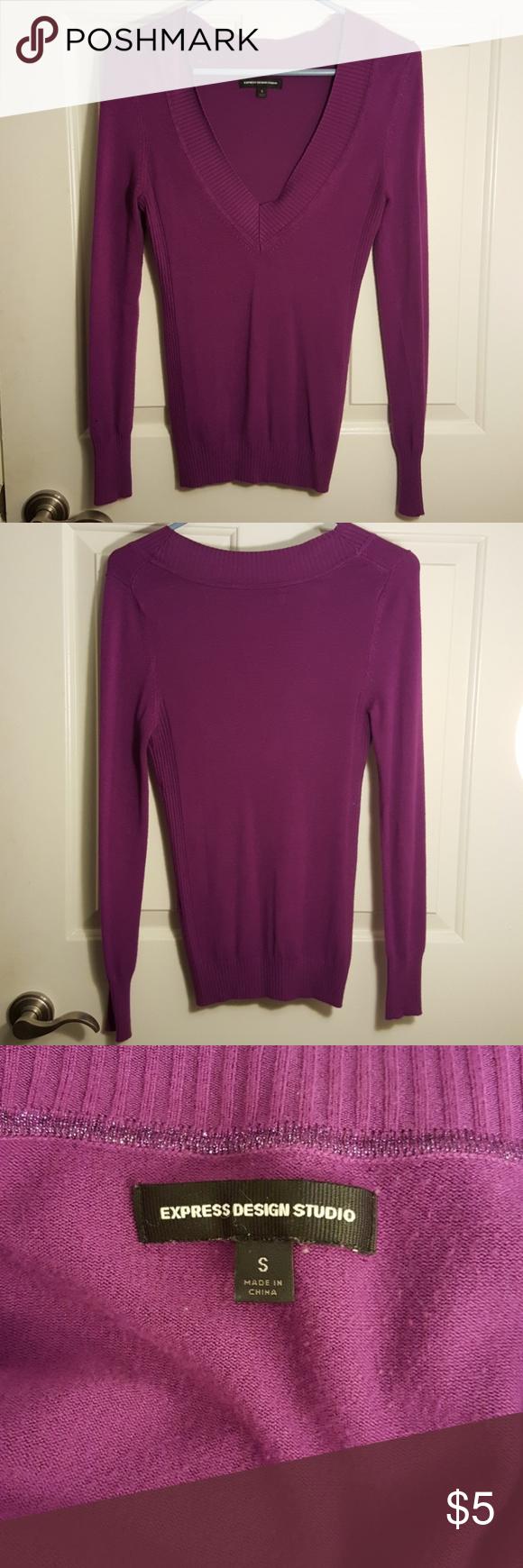 Express Design Studio Purple Sweater | Studios, Purple and Keys