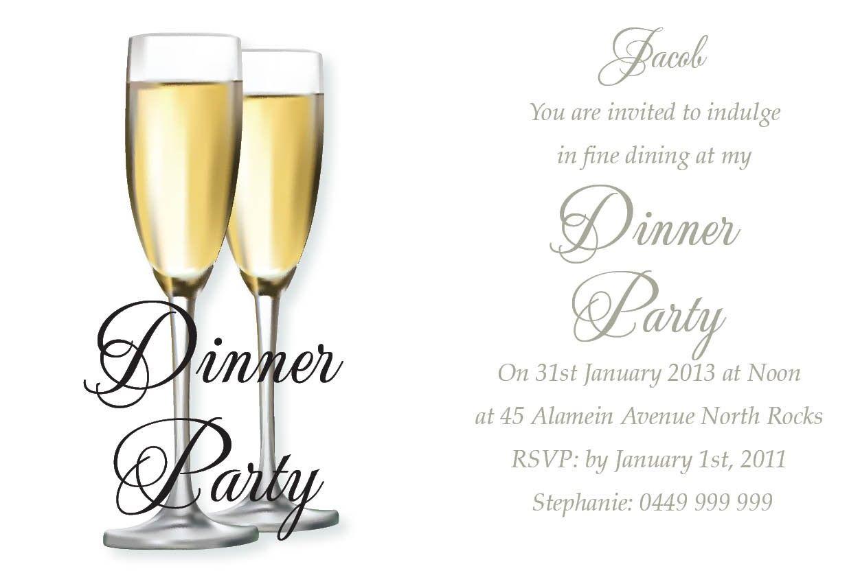 Happy Dinner Invitation