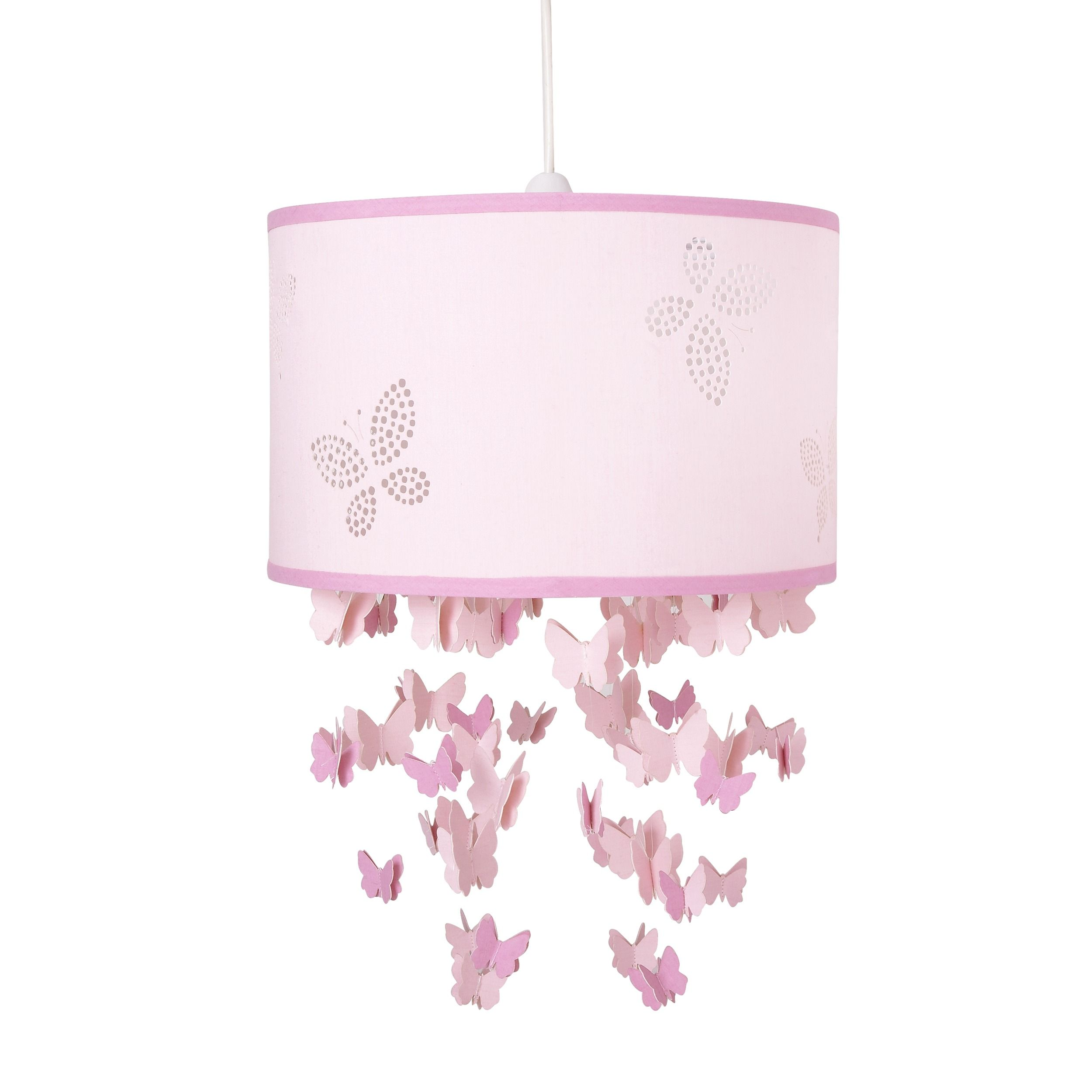 Girls Bella Butterfly Pink Mobile Ceiling Shade at LAURA
