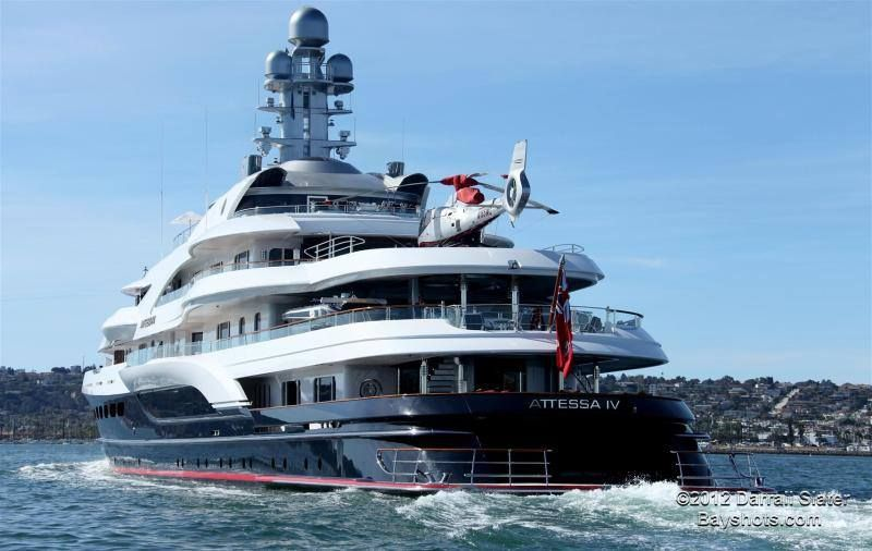 Dennis Washington S Attessa Iv 332ft Mega Yacht Restored From