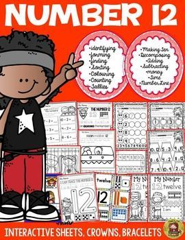 Help build number recognition, formation and number sense with this  number 12 activity pack. All sheets in this activity pack may be collated into a booklet on completion. This resource addresses the Counting and Cardinality and Operations and Algebraic Thinking standards of the Common Core curriculum. https://www.teacherspayteachers.com/Product/NUMBER-NUMBER-SENSE-NUMBER-12-2527108