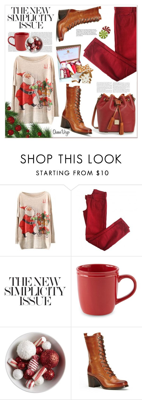 """Let The Festivities Begin"" by queenvirgo ❤ liked on Polyvore featuring Comptoir Des Cotonniers, JCPenney Home, Frye and Dooney & Bourke"