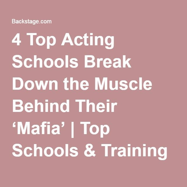 4 Top Acting Schools Break Down the Muscle Behind Their 'Mafia'   Top Schools & Training Lessons for Actors, Singer, Dancers   Career Tips   Backstage   Backstage