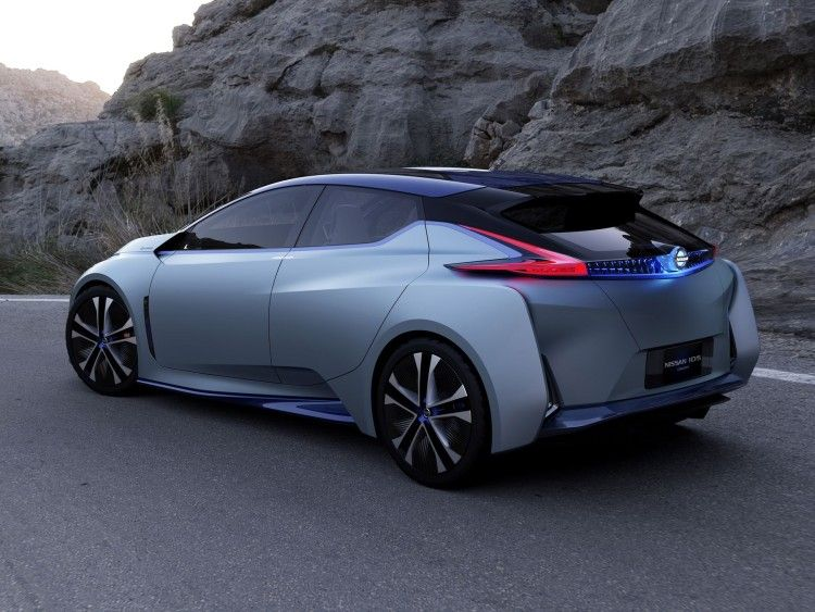Next Generation Nissan Leaf Ilrated In 60 Kwh Ids Concept