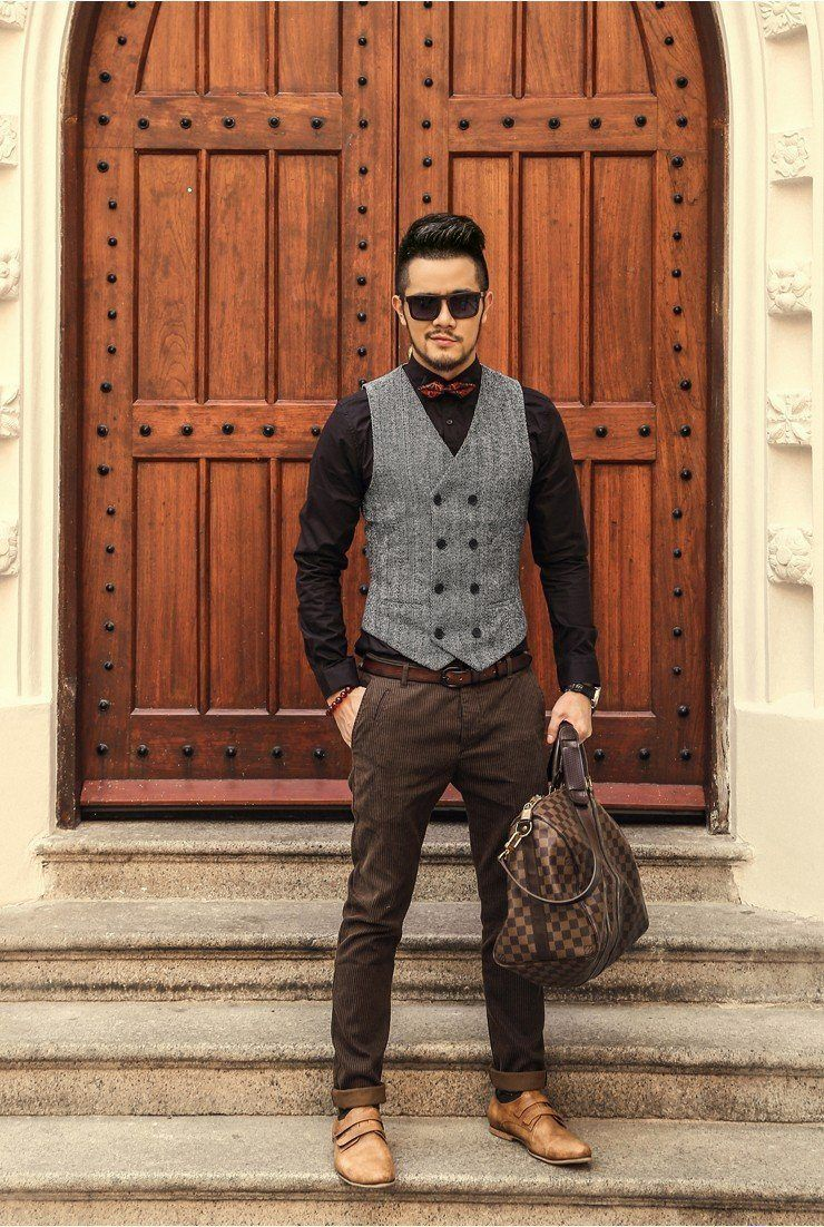Herringbone Business Vest