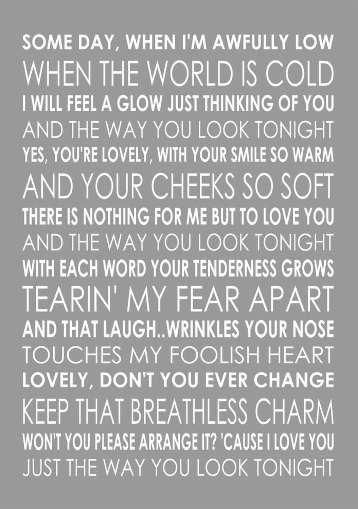 The Way You Look Tonight Michael Buble Frank Sinatra And Others Love Songs Lyrics Lyrics To Live By Michael Buble Lyrics