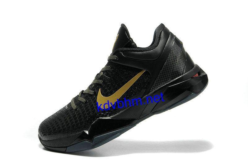 d674bea98a55 Cheap Nike Zoom Kobe 7 Elite Away Black Gold 511371 001 for sale ...