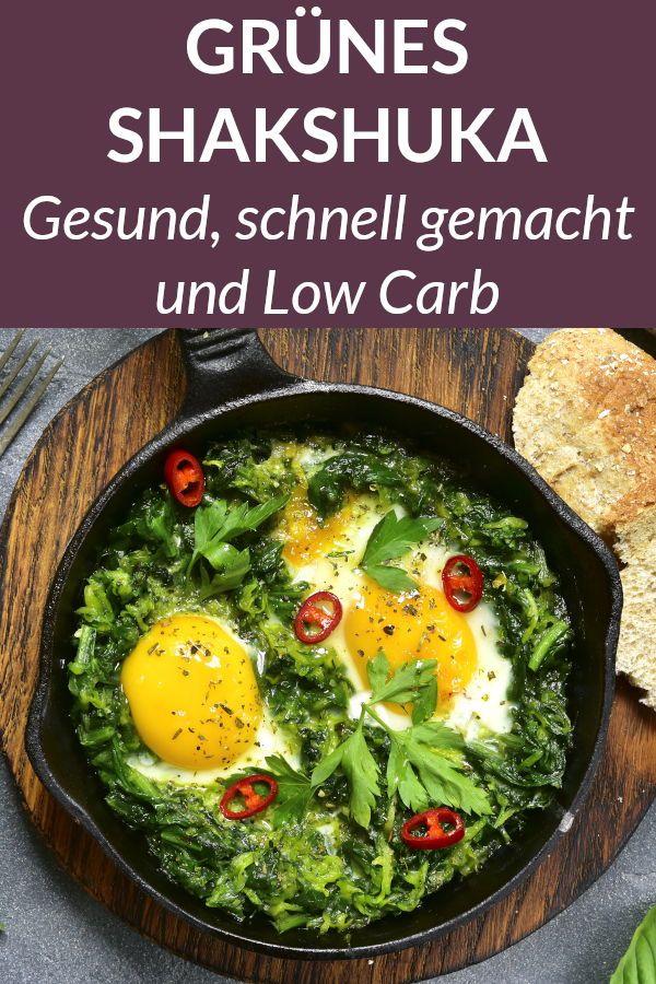 Grünes Shakshuka – Leckeres Low Carb Gericht mit Spinat und Ei