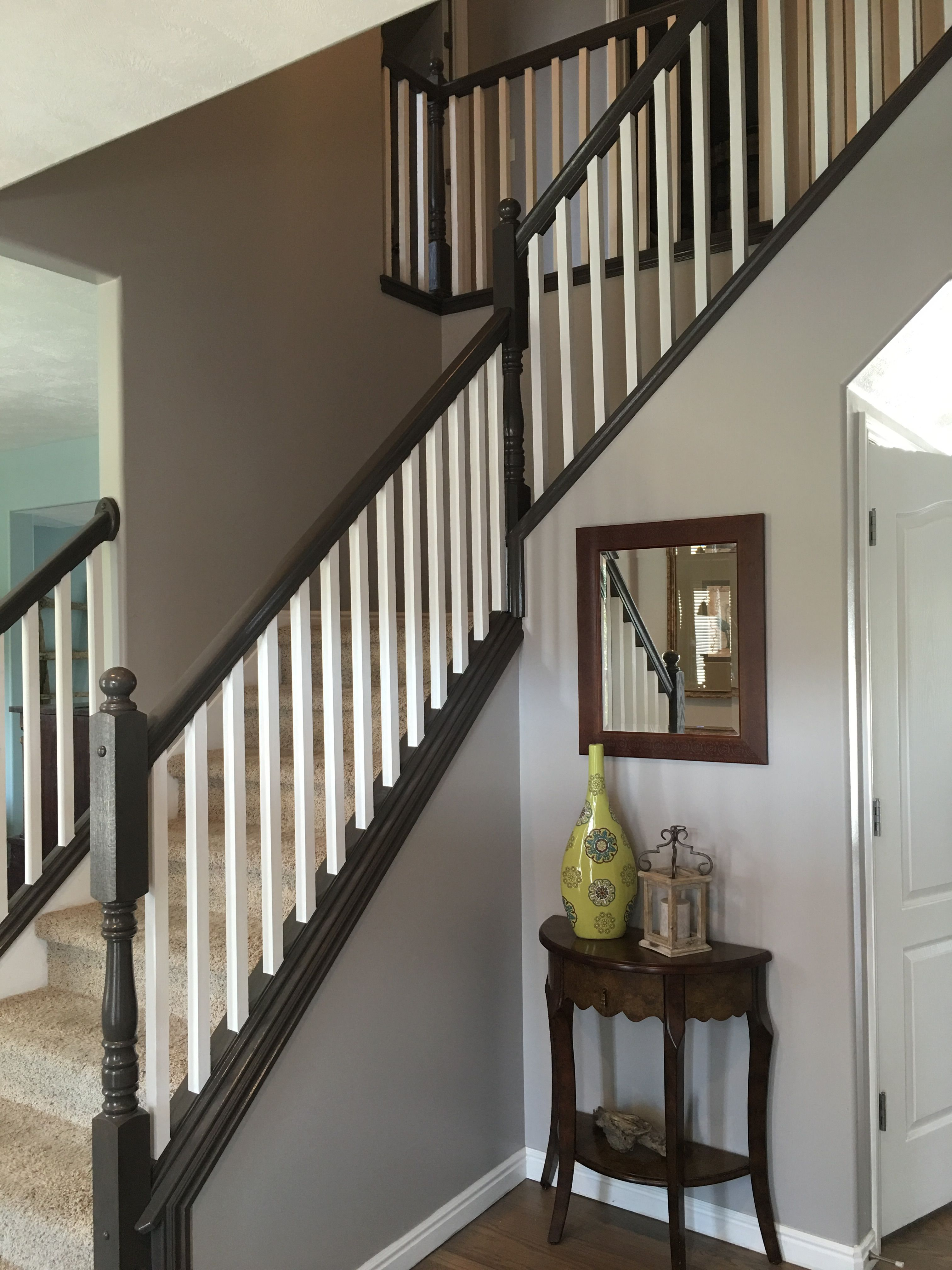 Painting And Staining Our Stair Railing Part 3 Done Indoor