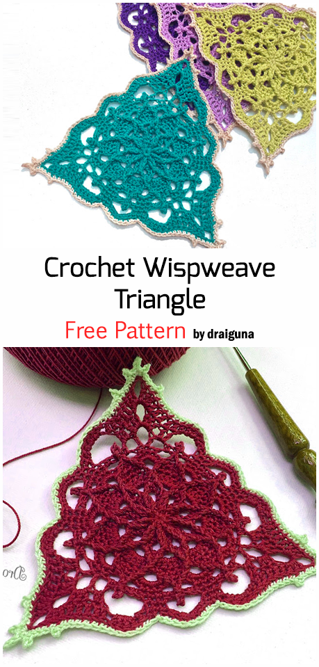 Photo of Häkeln Sie Wispweave Triangle – Free Pattern