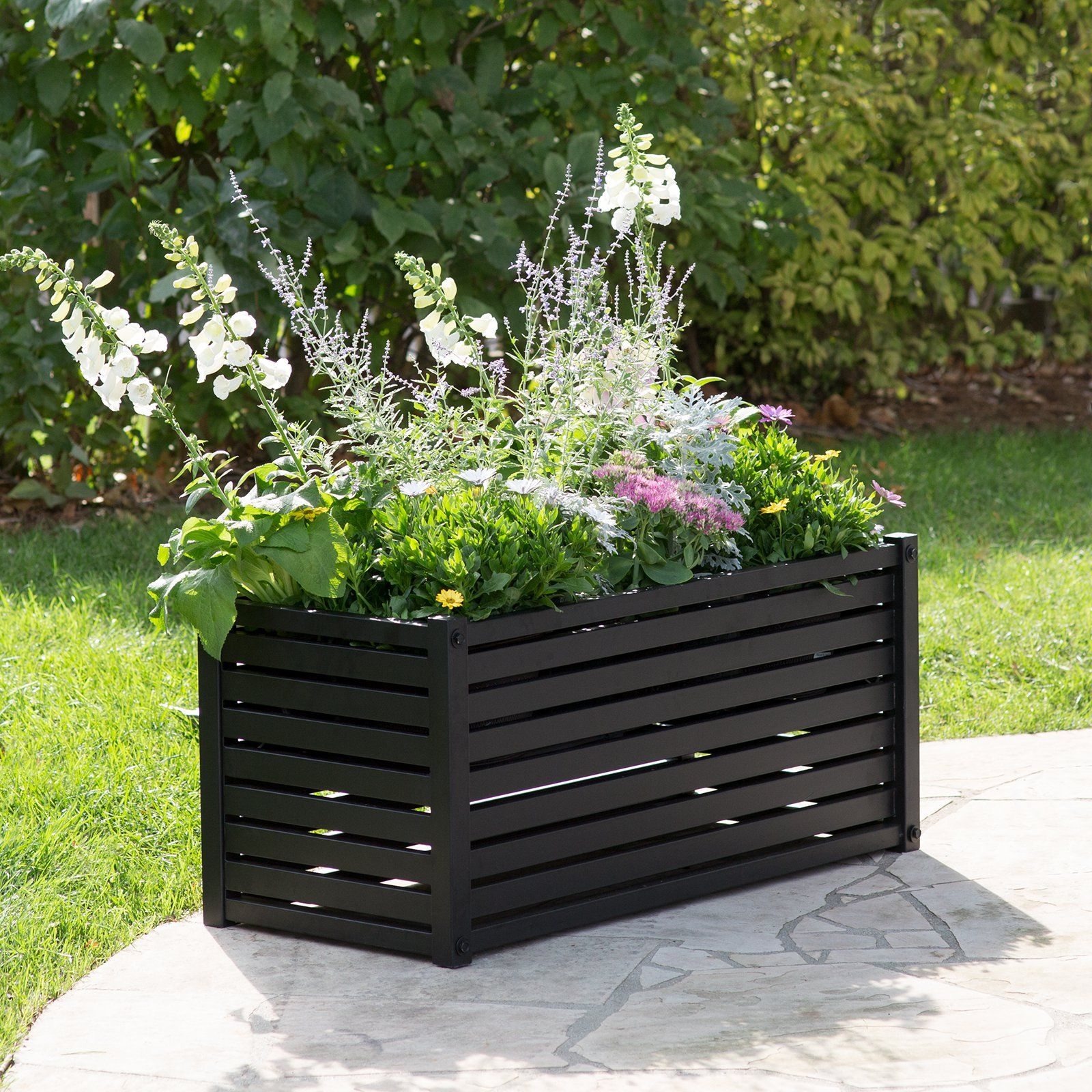 Belham living danbury planter rectangle your modern outdoor your modern outdoor space will thank you for the belham living danbury planter rectangle this metal rectangular planter comes in a classic workwithnaturefo