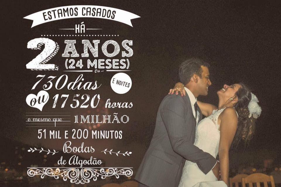 Foto Personalizada Bodas Bodas De Algodao Presentes Para