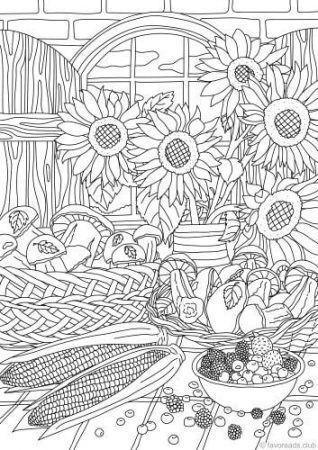 blumen ausmalbilder ausmalen coloring coloringpagesforkids kinder erwachsenen malv