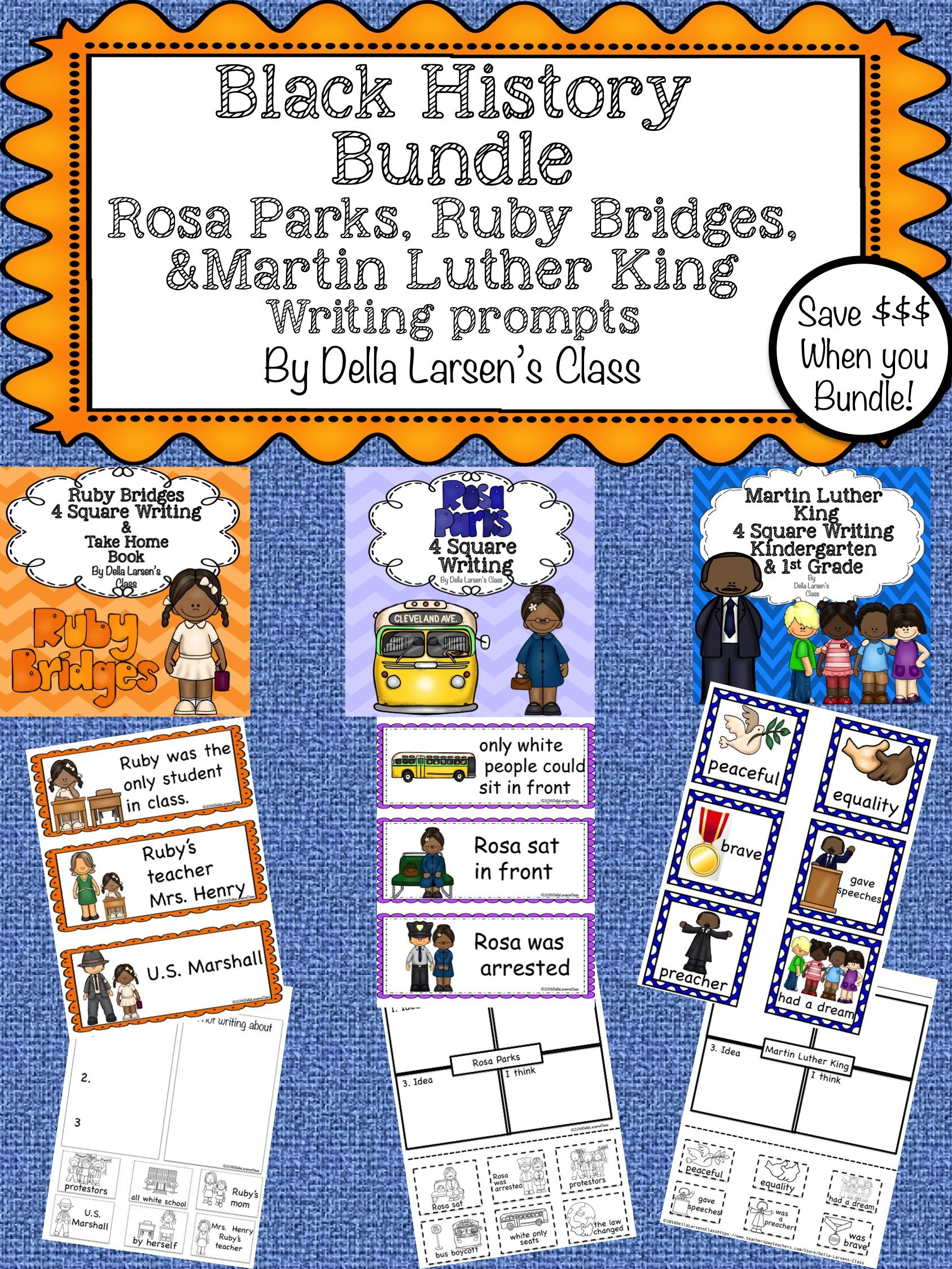 Black History Bundle Rosa Parks Ruby Bridges Martin