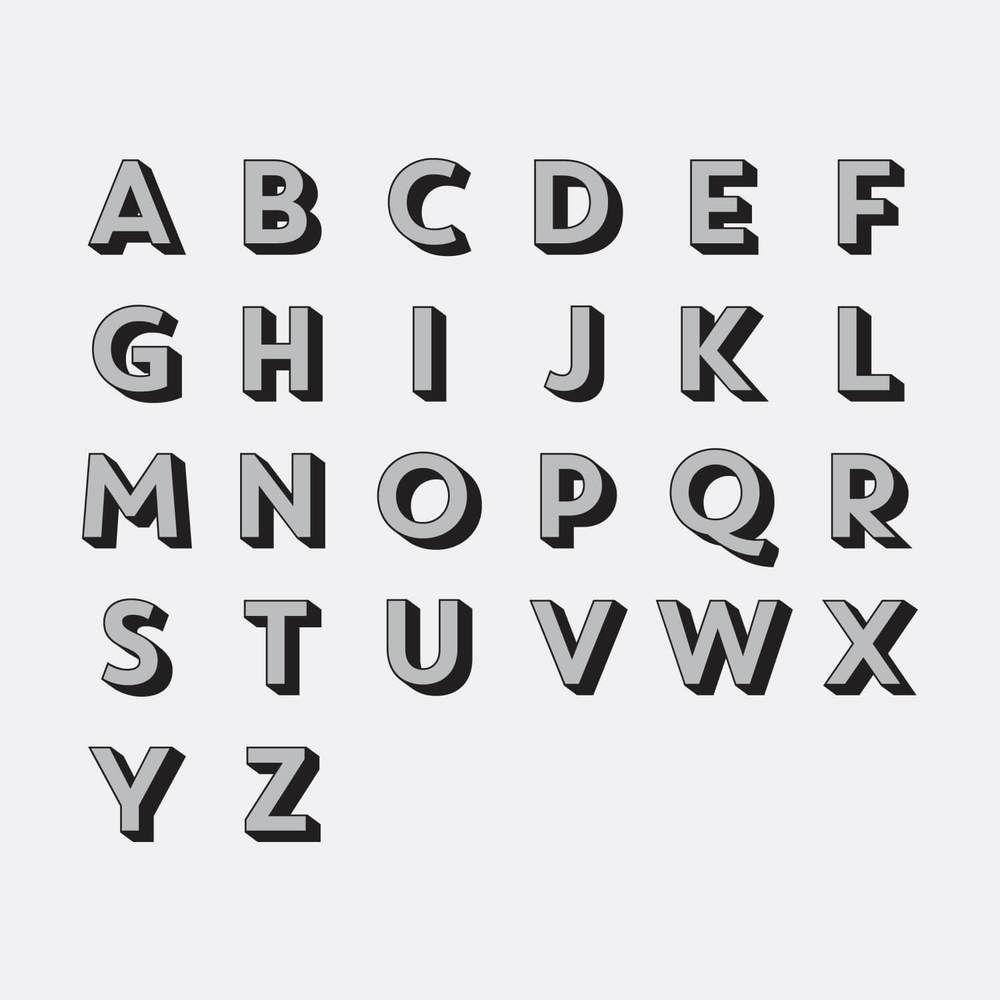 Drop Shadow Custom Throw Pillow   Lettering, Lettering alphabet ...