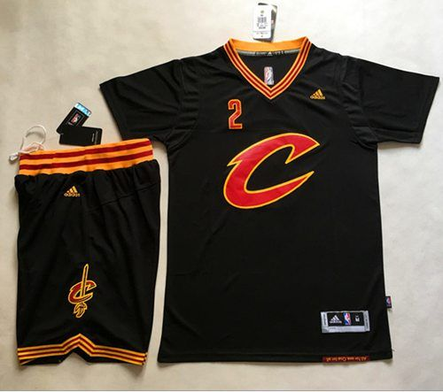 2147f96512b ... cavaliers 2 kyrie irving black short sleeve c a set stitchednbajersey