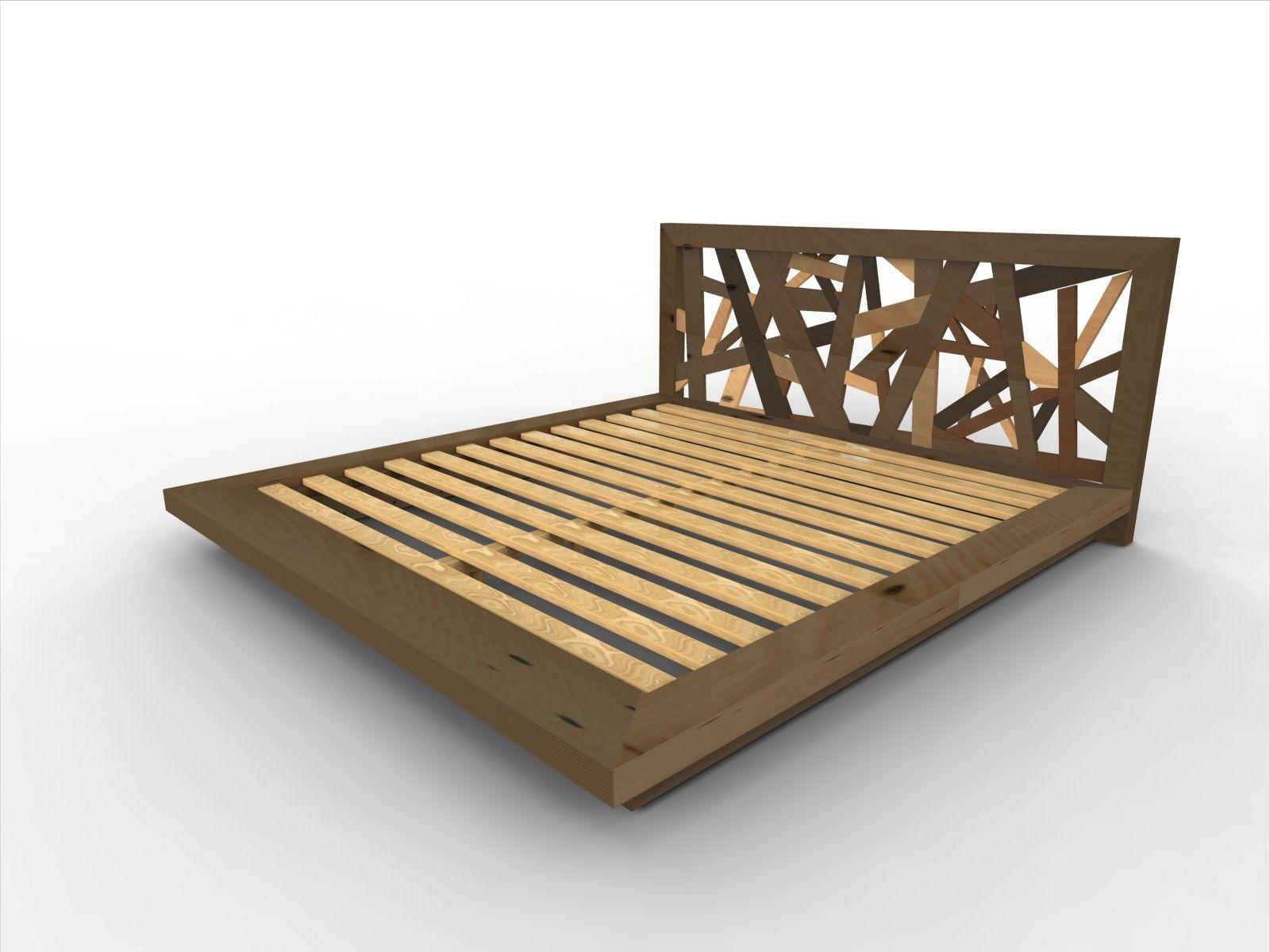 furniture-bedroom-queen-brown-wooden-platform-king-bed-frame-plus ...