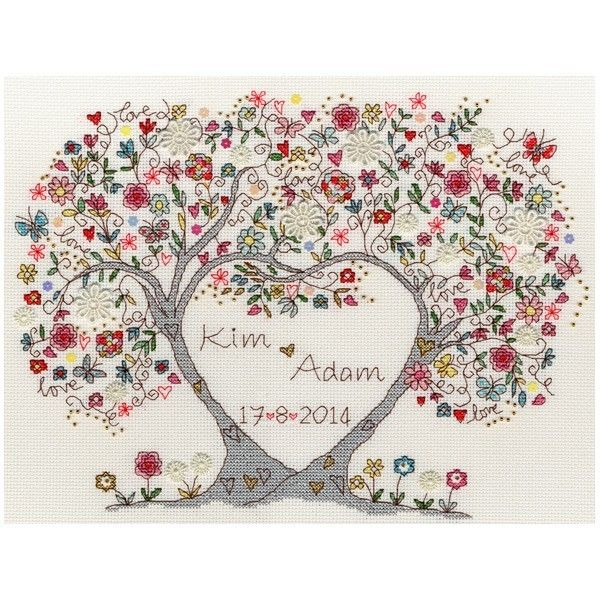 Love Blossoms Counted Cross Stitch Kit