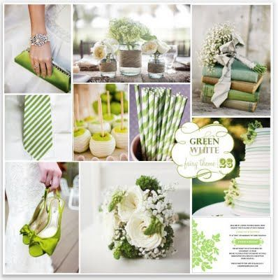 wedding ideas (sage)  | Choose lime, apple, chartreuse, sage, emerald, khaki... the spectrum ... im actually really starting to like that green apple  color